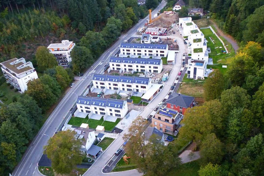 Den schicken Reihenhäusern im Süden von Günterstal mussten 38 Bäume weichen.   | Foto: Archivfoto:  Volker Jung