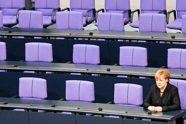 Kanzlerin Merkel: Warten auf die Dämmerung