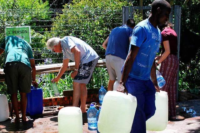 Kapstadt bereitet sich auf den Ausfall der Wasserversorgung vor