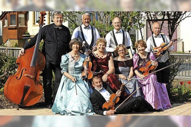 Mit dem Obermittinger Salonorchester in Höchenschwand