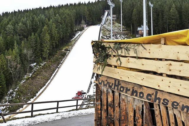 Schanze frei trotz Orkan im Schmiedsbachtal