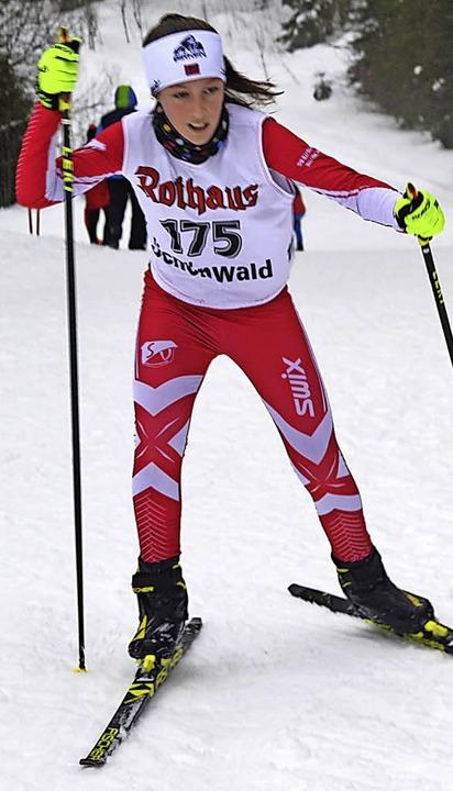 Einen von zwei Klassensiegen für den SVK erlief Louisa Haag in Schönwald.   | Foto: Junkel