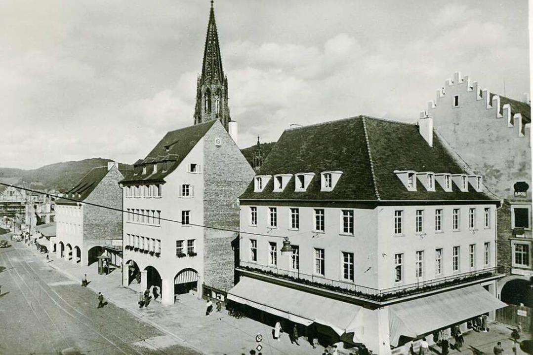 Anfang der 1950er Jahre dominierten di...hufen schnell nötige Geschäftsfläche.   | Foto: Archiv Hans-Jürgen Oehler