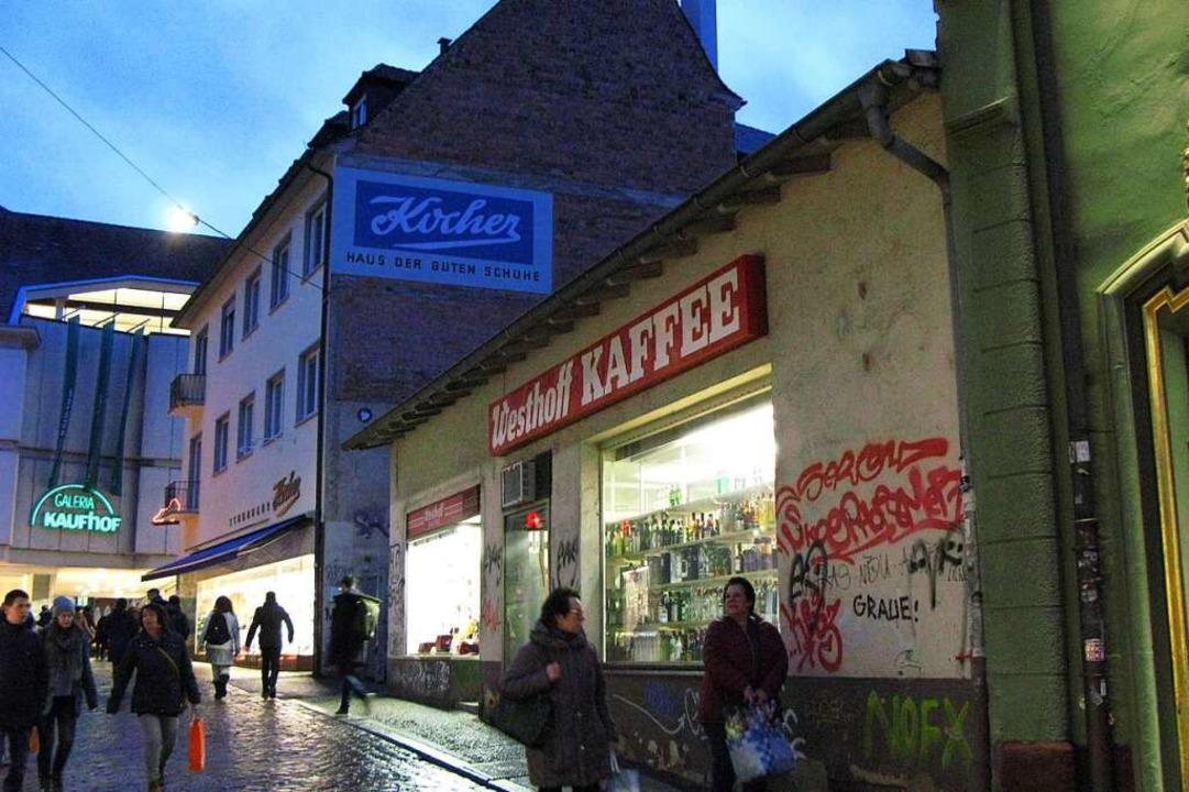 Unscheinbar, aber bauhistorisch wertvo...off-Behelfsladen  an der Eisenstraße.   | Foto: Carola Schark