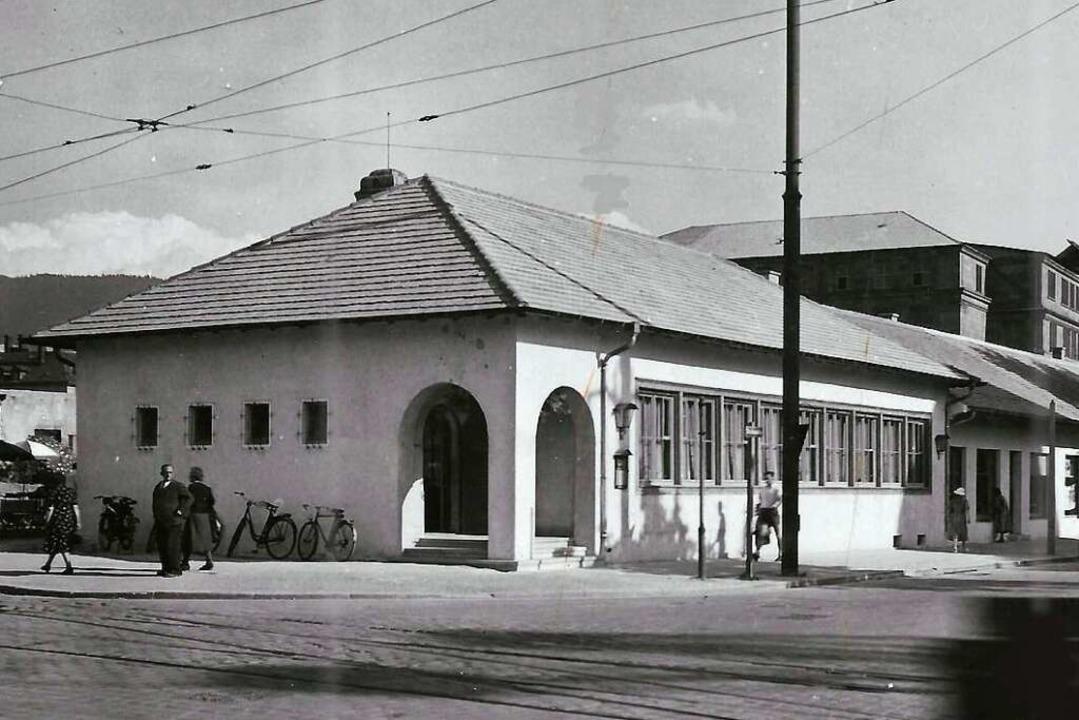 Die Behelfsbauten am heutigen Platz de...eigt dieses um 1950 entstandene Foto.   | Foto: Archiv Hans Sigmund