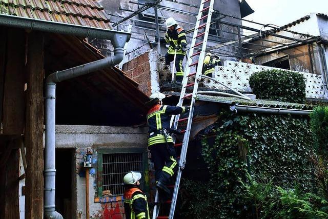 Vier Menschen aus brennendem Haus in Zunsweier gerettet