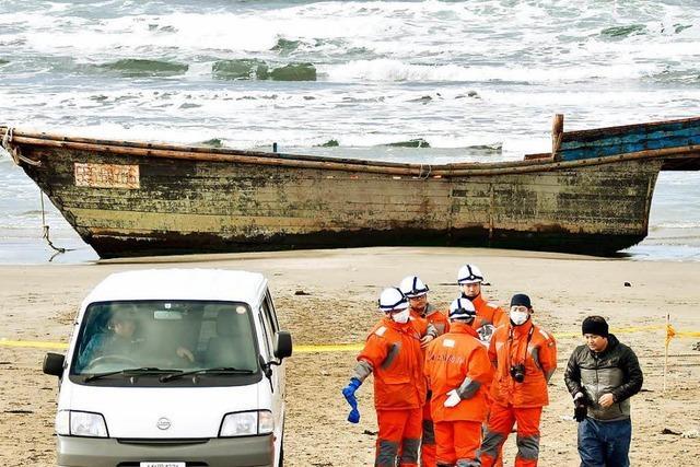 Vor Japan werden immer wieder Boote mit Leichen angetrieben