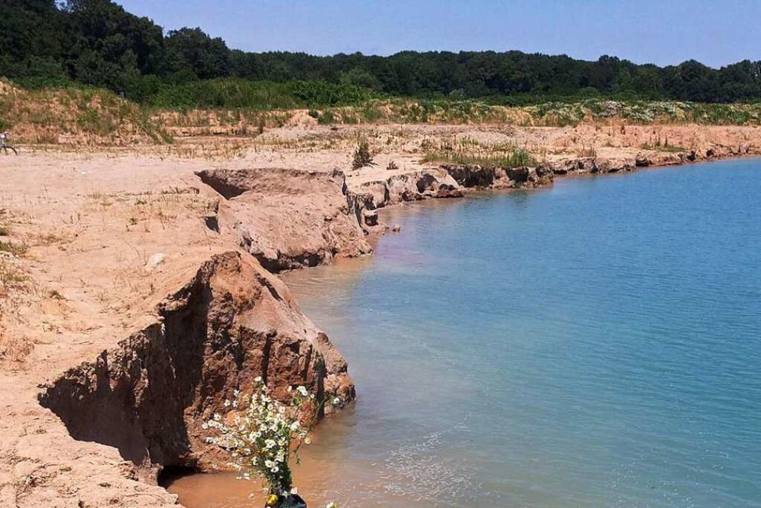 Im Juni 2014 starb der 13-Jährige beim...r des Sees, als die Uferkante abbrach.  | Foto: hsl