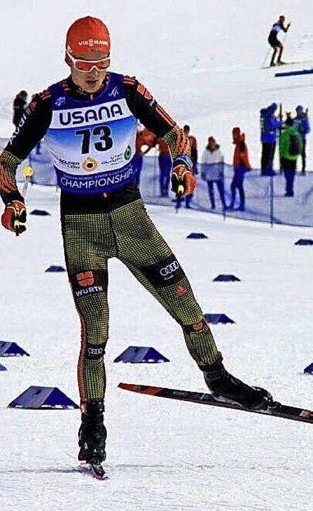 Janosch Brugger, hier vor einem Jahr b...berstdorf seine ersten Weltcuppunkte.   | Foto: dpa