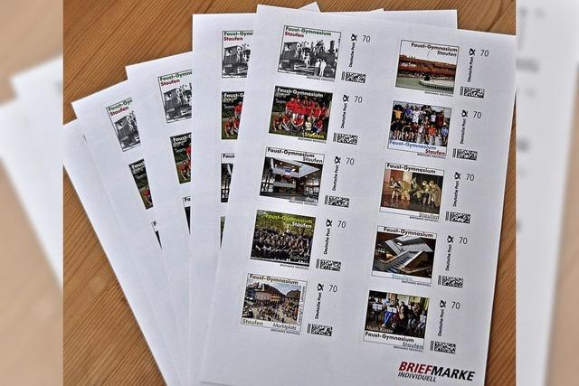 Briefmarken, die der Schule helfen