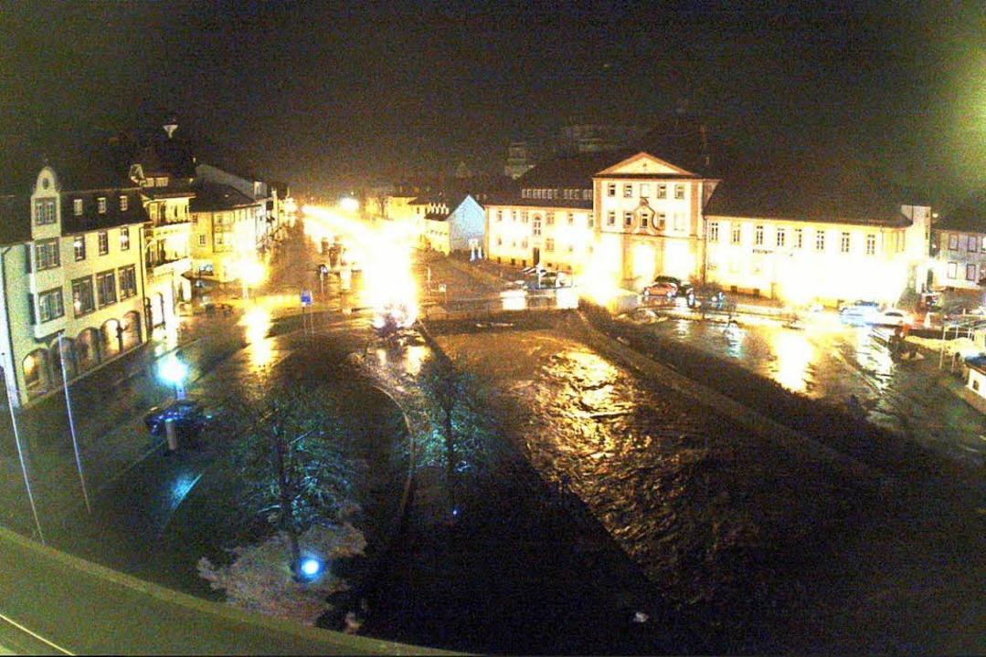 In St. Blasien gilt die höchste Alarmstufe.  | Foto: Webcam Stadt St. Blassen