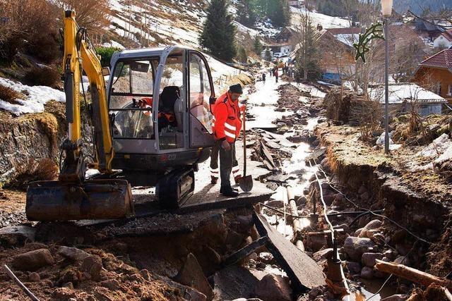 Schäden nach Hochwasser in Menzenschwand größer als 1990