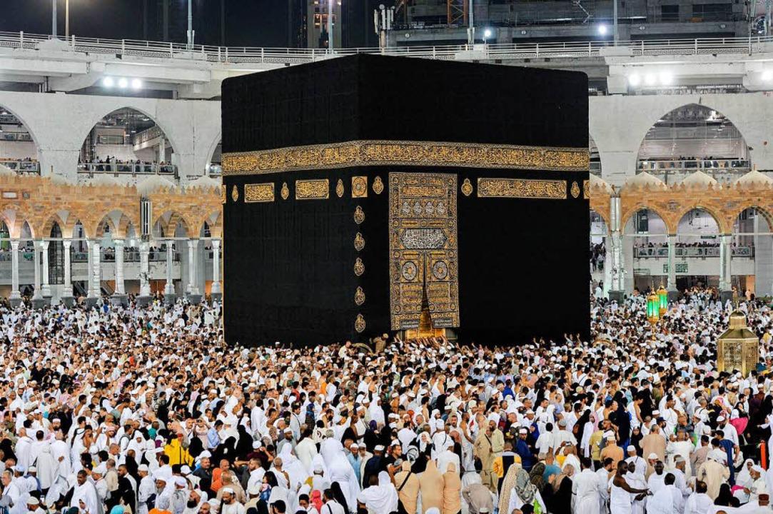 Das Zentrum aller Muslime: die Kaaba im Mekka.    Foto: dpa