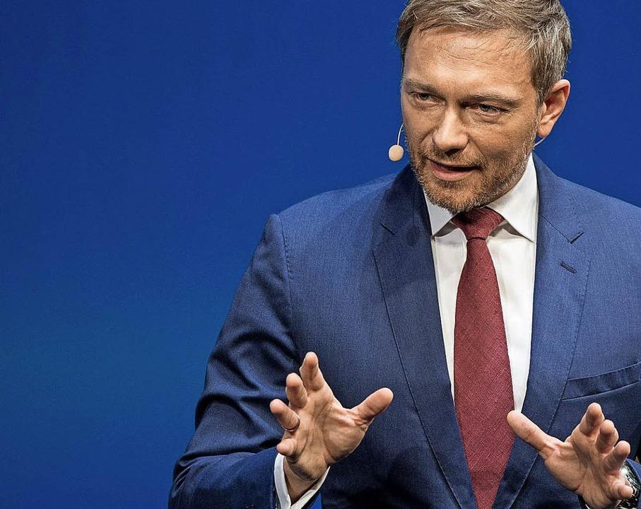 Christian Lindner sieht seine FDP gut aufgestellt.  | Foto:  dpa