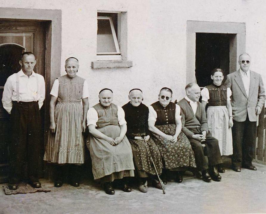 Die Schlosshoffamilie Flamm um das Jahr 1960   | Foto: Privat/Bernhard Hoch