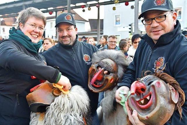 Fotos: Maskenabstauben und Ordensempfang in Rheinfelden