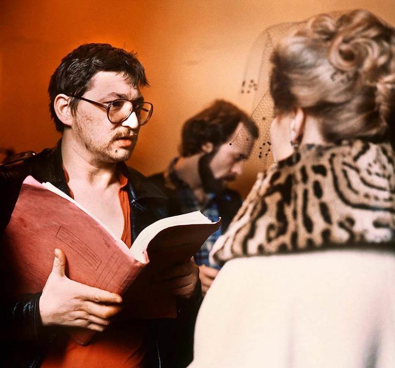 Rainer Werner Fassbinder  gibt Hanna S...em diese  die Titelheldin verkörperte.    Foto: Istvan Bajzat