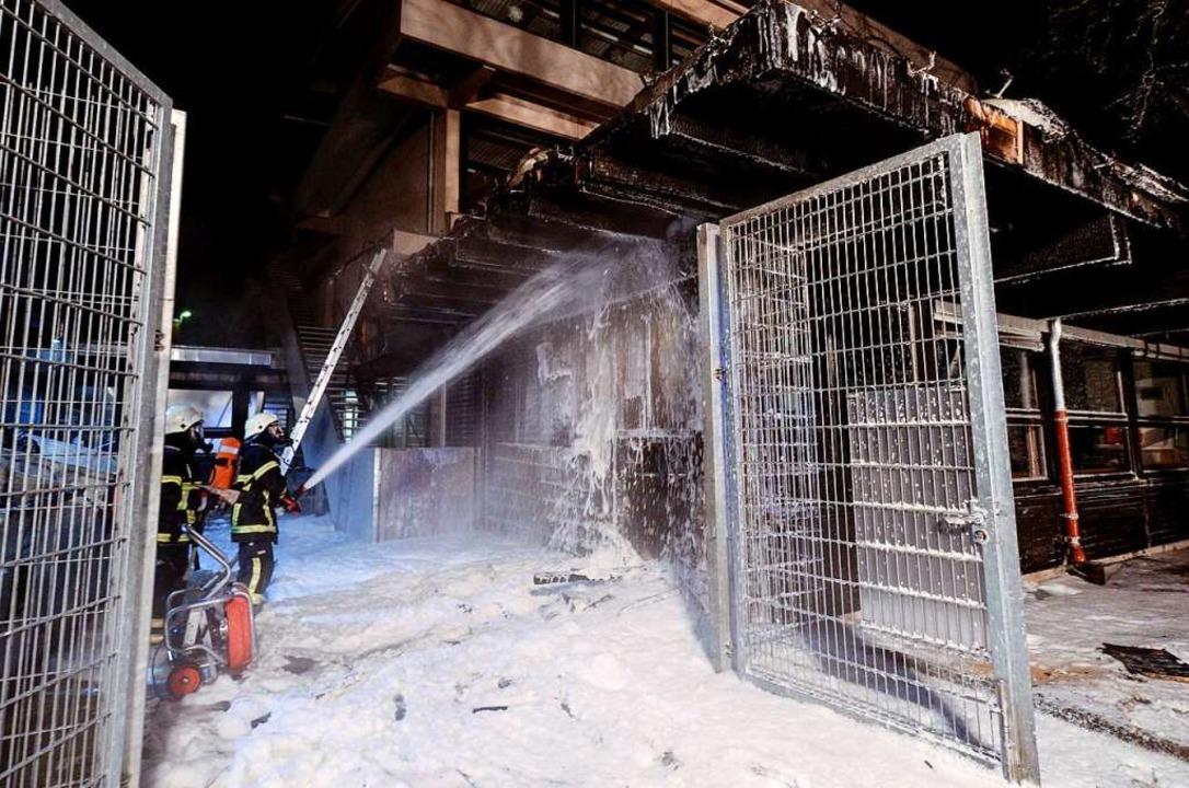 Brand in der Albert-Schweitzer-Werkrealschule in Freiburg  | Foto: Patrick Seeger