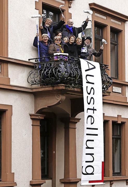 Die neue Anschrift des Kunstforums hei...der ehemaligen Räume der Musikschule.   | Foto:  Verein