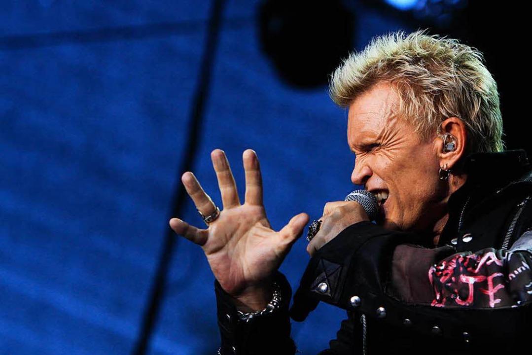 Billy Idol trat 2015 auf dem Emmendinger Schloßplatz auf.  | Foto: Patrik Müller