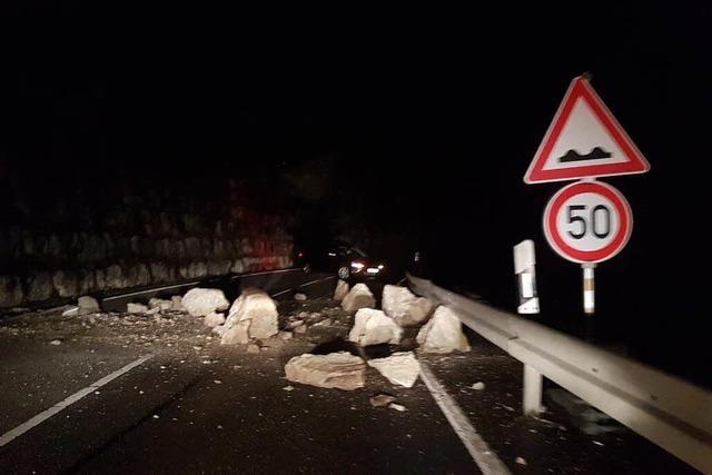 Felssturz bei Wutach blockiert wichtige Verkehrsader L 171 auf die Baar