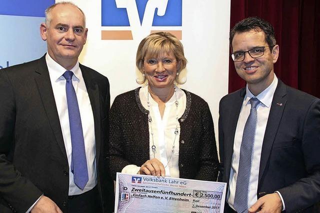 Spende der Volksbank Lahr
