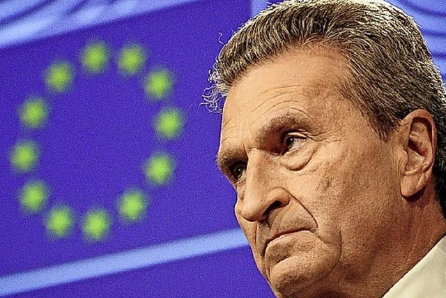 Oettinger für Plastiksteuer