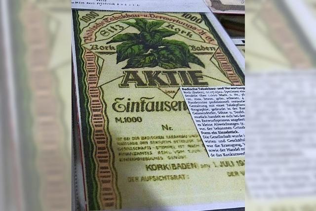 Dokumente zeugen von florierenden Tabakfabriken