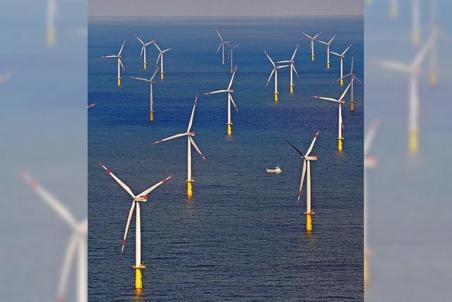 Nordsee voller Windmühlen