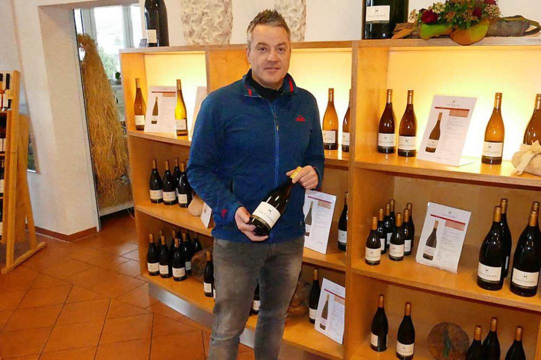 Ehret wünscht sich, dass der Haltinger Wein etwas ganz Besonderes bleibt.  | Foto: Elena Bischoff