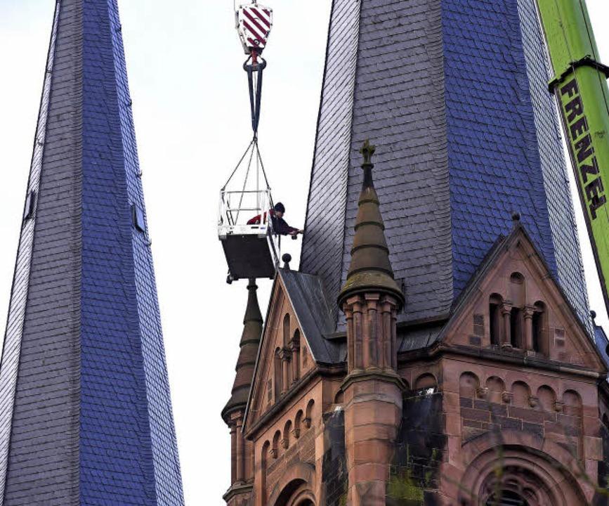 Die Sturmschäden am Dach der Johanneskirche sind behoben worden.     Foto: Thomas Kunz