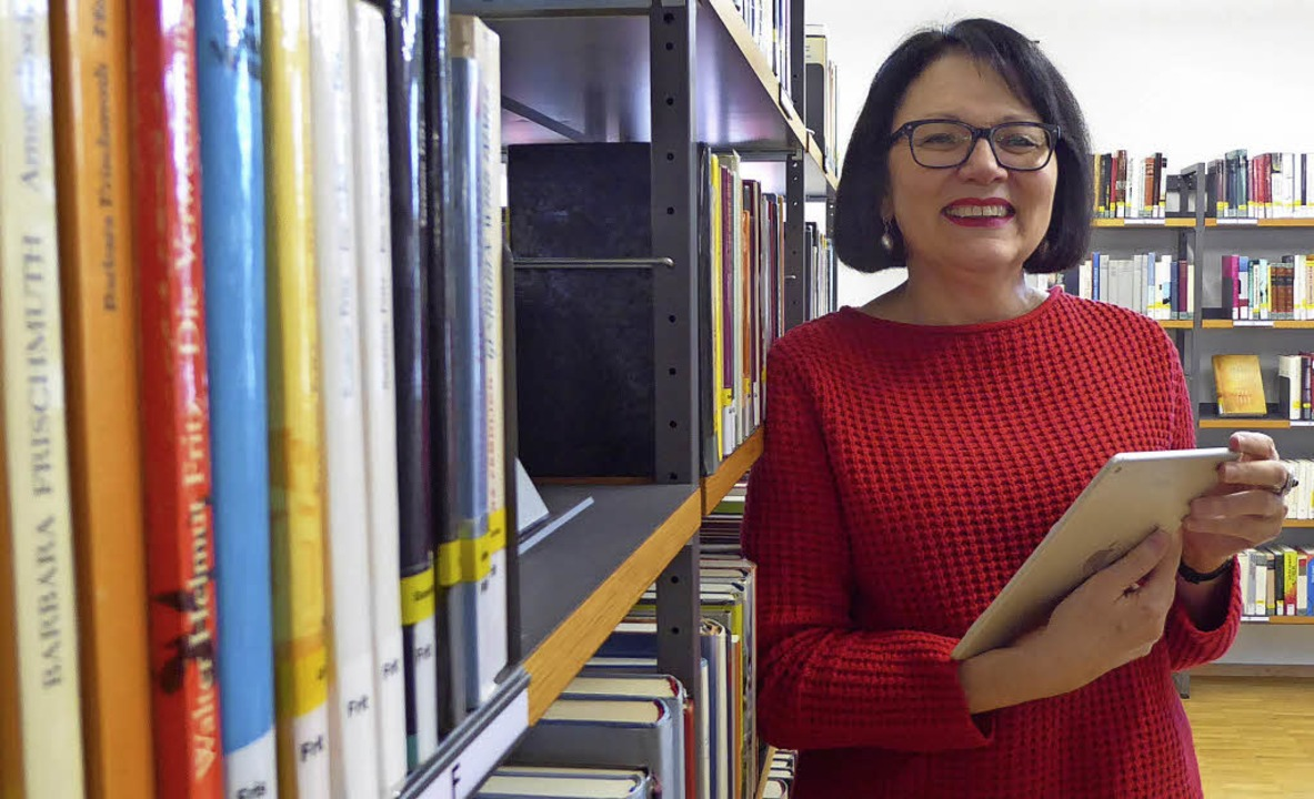 Sie sieht die Stadtbibliothek fit für ...ichalik, die als Leiterin Adieu sagt.     Foto: Seller