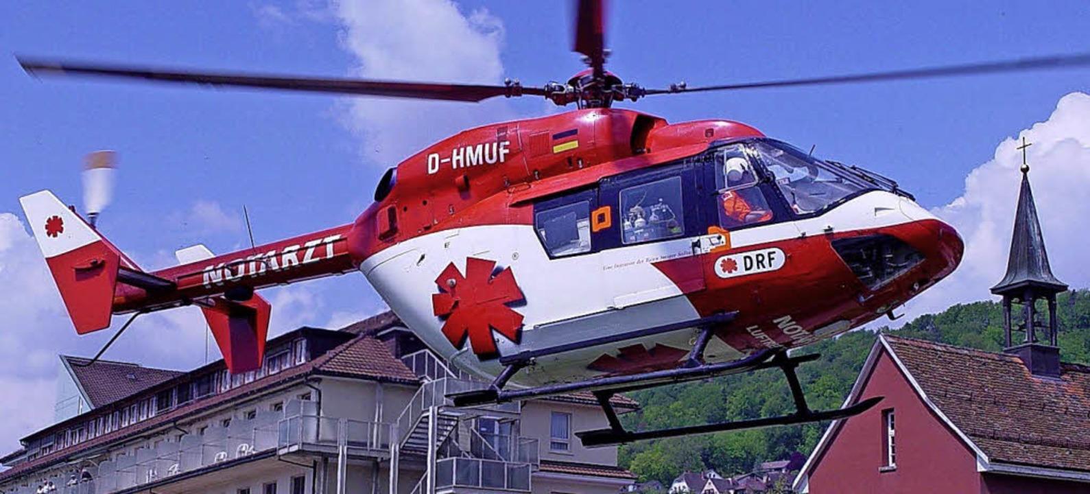 Einen Rettungshubschrauber will die Bj...n Luftrettung, in Hütten stationieren.  | Foto: SK