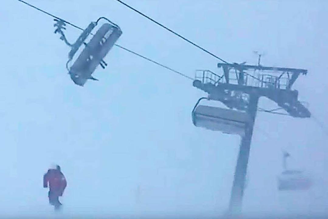 Entstanden ist das Video am 3. Januar ...tafon im österreichischen Vorarlberg.     Foto: Screenshot: Youtube.com
