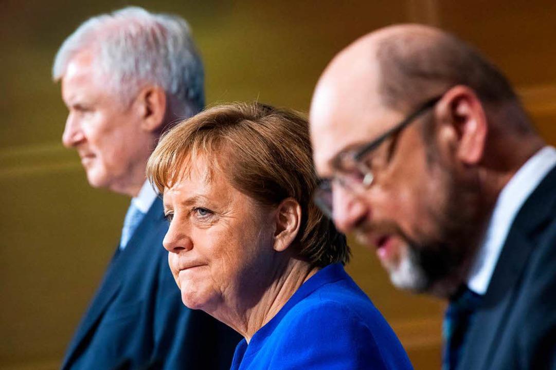 Die Union und SPD steuern eine erneute GroKo an.  | Foto: dpa