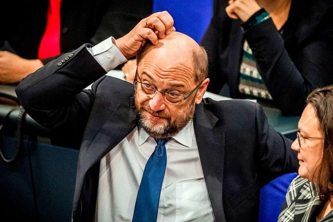 Martin Schulz – SPD-Chef und Vornamensvetter des OB-Kandidaten.  | Foto: dpa