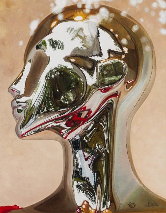 Der Bremer Hyperrealist Gerd Lieder be...ch in seinen Bildern mit Spiegelungen.  | Foto: frank scheffka
