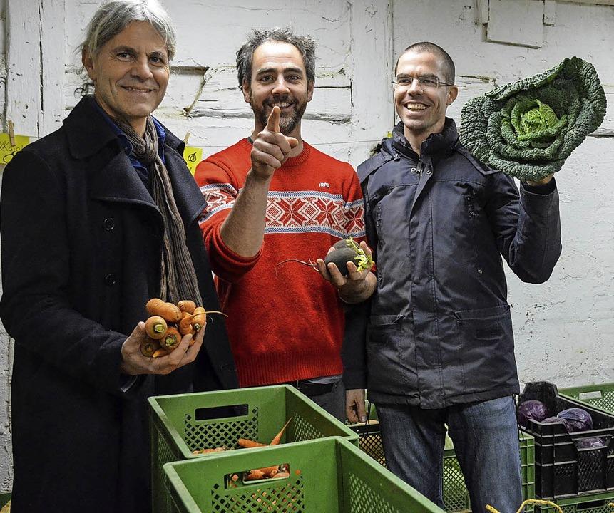 Stefann Illi, Johannes Supenkämper und...el, der die Kampagne organisiert hat.   | Foto: Fotos: heg