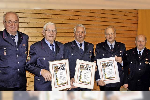 Zusammen 385 Jahre in der Feuerwehr