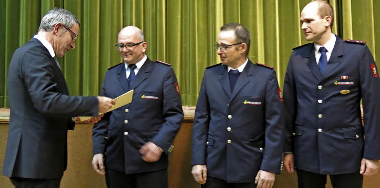 Verleihung des Sexauer Dorfpreises 2017 an die Freiwillige Feuerwehr Sexau  | Foto: Georg Voß