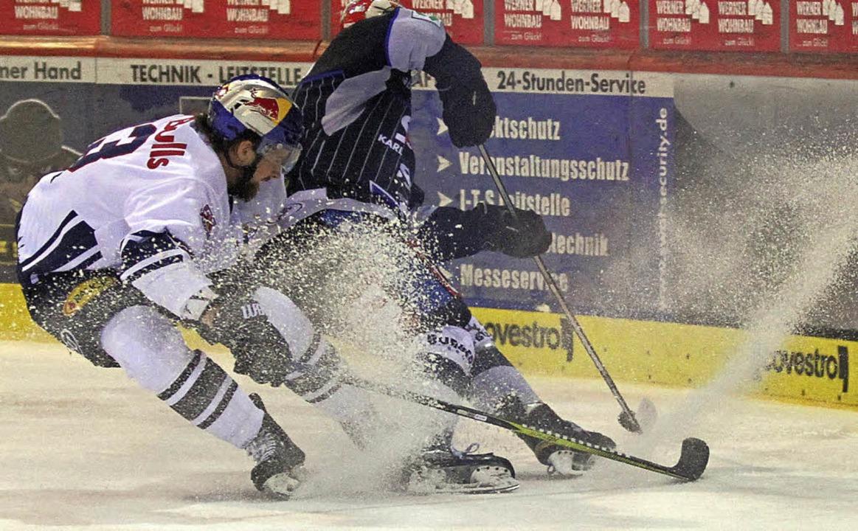 Ausgebremst: Die Schwenninger Wild Win...ister mit 1:2-Toren geschlagen geben.   | Foto: dieter reinhardt