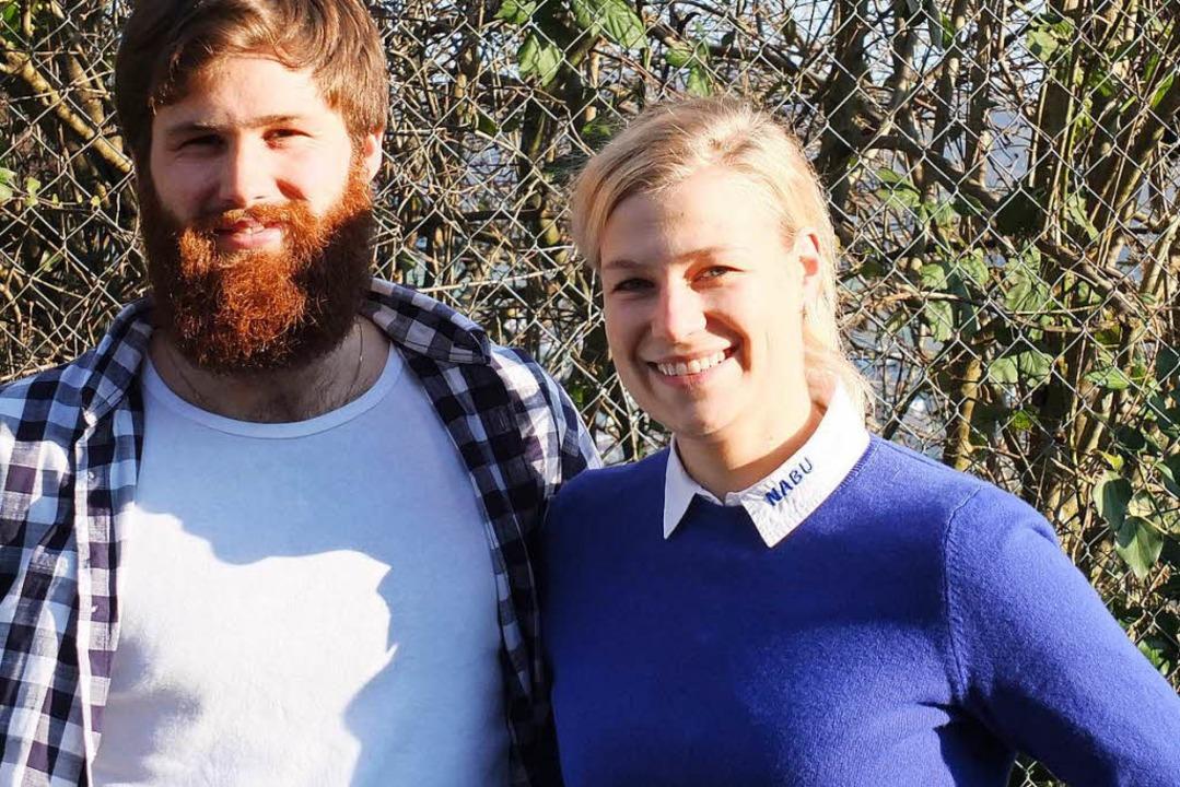 Hummelspezialisten Hannes Meier und Sarah Adelmann aus Tüllingen  | Foto: Martina David-Wenk