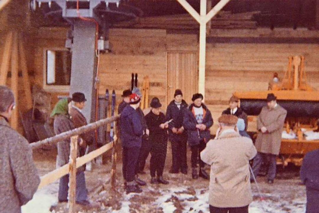 Bei der Einweihung des großen Lifts 1972 sprach Pfarrer Paul Wassmer den Segen  | Foto: Alexandra Wehrle