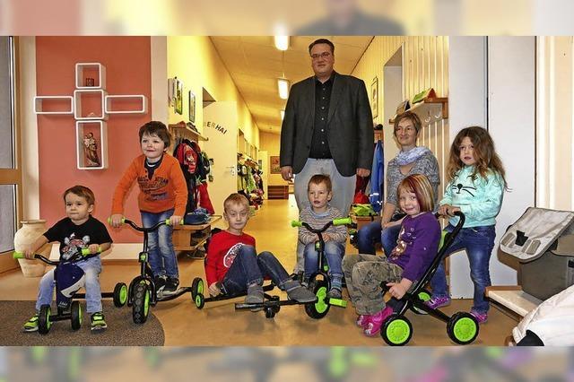 Durch Spende kommen die Kinder in Fahrt