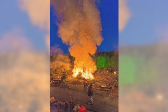 Die Weihnachtsbäume gehen in Flammen auf