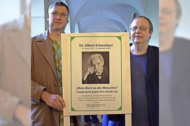 Eine Ausstellung in Offenburg beleuchtet den Atomrüstungsgegner Albert Schweitzer