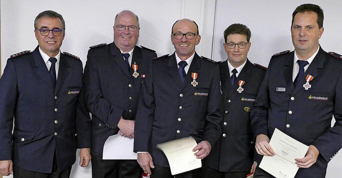 Der wieder gewählte Kommandant Horst H...chim Jenne, seit 25 Jahren im Dienst.     Foto: Manfred Frietsch
