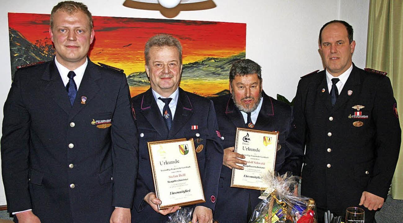 Zu Ehrenmitgliedern der Abteilung Gers...Ühlin (links) und Mark Ühlin (rechts).  | Foto: Gerd Sutter