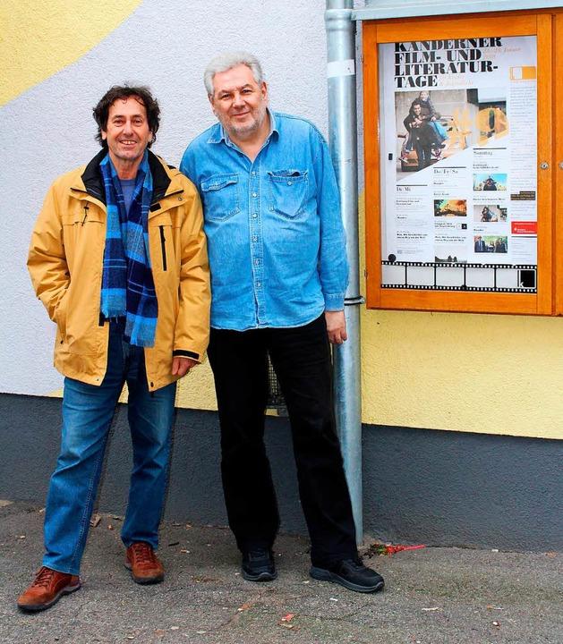 Die Organisatoren der Kanderner Film- ...eter Diegel freuen sich aufs Programm.  | Foto: Reinhard Cremer