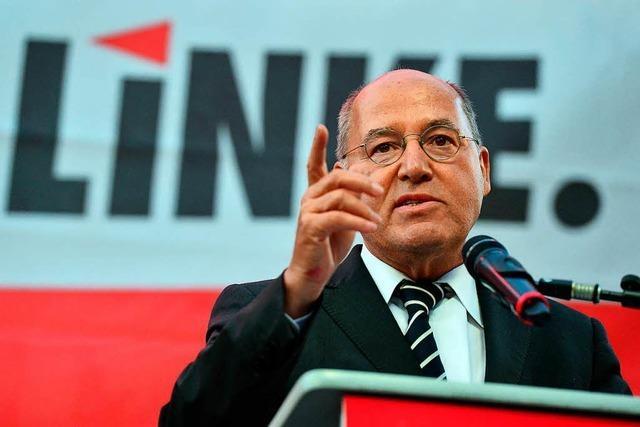 Gregor Gysi lehnt die Idee einer neuen linken Volkspartei ab